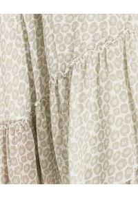 HEMISPHERE - Zielona spódnica z falbaną. Stan: podwyższony. Kolor: zielony. Materiał: wiskoza, materiał. Wzór: aplikacja. Styl: wizytowy, elegancki