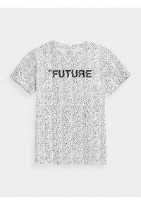4f - T-shirt chłopięcy (122-164). Kolor: biały. Materiał: bawełna. Wzór: nadruk