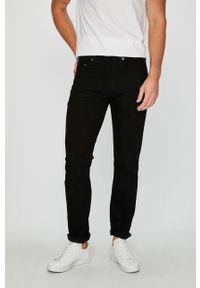 Czarne jeansy Levi's® na spotkanie biznesowe, z aplikacjami, biznesowe