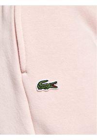 Różowe spodnie dresowe Lacoste
