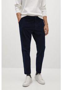 Niebieskie spodnie Mango Man casualowe, gładkie