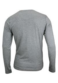 Szary T-shirt (Koszulka) - Długi Rękaw, Longsleeve - 90% BAWEŁNA - Brave Soul, Męski. Okazja: na co dzień. Kolor: szary. Materiał: wiskoza, bawełna. Długość rękawa: długi rękaw. Długość: długie. Styl: casual