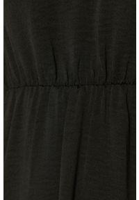 Czarna sukienka Vero Moda na co dzień, casualowa, z długim rękawem