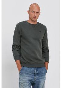 G-Star RAW - G-Star Raw - Bluza D16917.C235. Kolor: zielony. Materiał: dzianina. Wzór: gładki