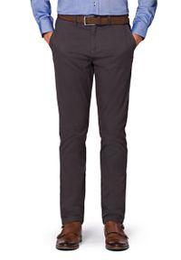 Szare spodnie Lancerto na co dzień, w kolorowe wzory