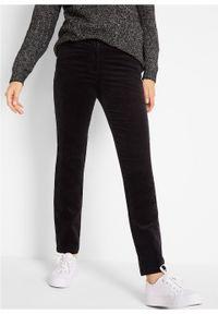 Czarne spodnie bonprix z obniżonym stanem