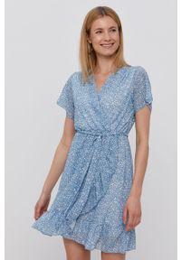 Niebieska sukienka Haily's mini, z krótkim rękawem