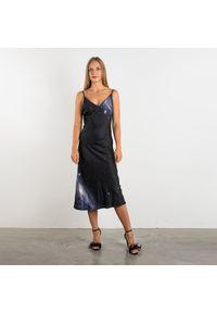 """Pinko Sukienka """"Porto"""". Typ kołnierza: dekolt w kształcie V. Materiał: tkanina. Długość rękawa: na ramiączkach. Wzór: nadruk. Typ sukienki: dopasowane. Długość: maxi"""