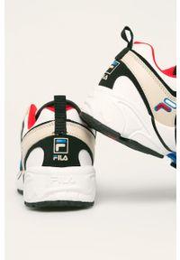 Beżowe buty sportowe Fila na sznurówki, z cholewką