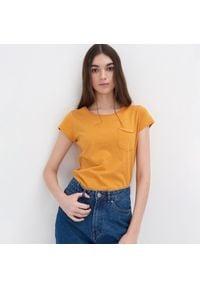 Sinsay - Koszulka - Żółty. Kolor: żółty