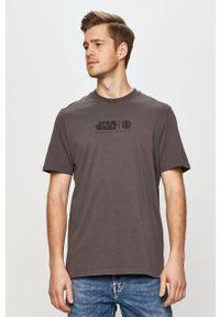 Szary t-shirt Element na co dzień, z motywem z bajki, casualowy