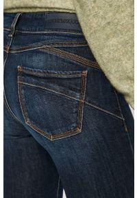 Niebieskie jeansy bootcut Sportmax Code w kolorowe wzory