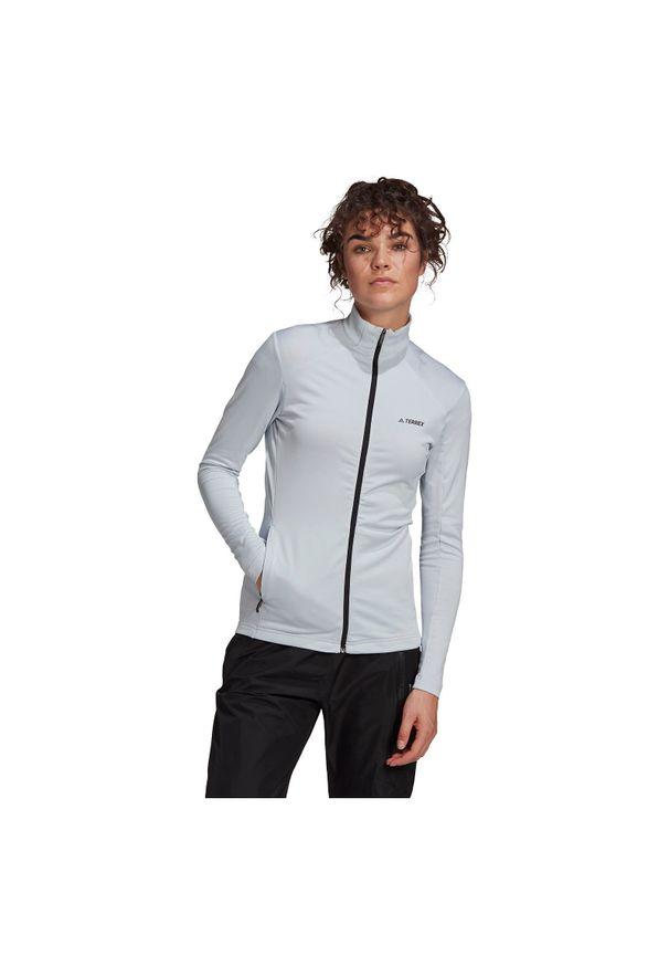 Adidas - Polar damski adidas Terrex FullZip Fleece GM4802. Materiał: polar