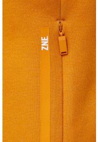 adidas Performance - Bluza. Typ kołnierza: kaptur. Kolor: pomarańczowy. Materiał: dzianina
