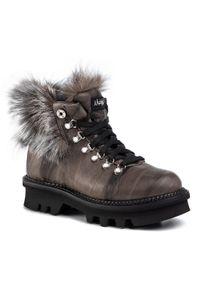 Szare buty trekkingowe Montelliana z cholewką