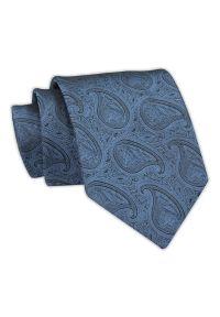 Chattier - Krawat Męski, Niebieski Klasyczny w Paisley, Łezki, Szeroki 7,5 cm, Elegancki -CHATTIER. Kolor: niebieski. Materiał: tkanina. Wzór: paisley. Styl: klasyczny, elegancki