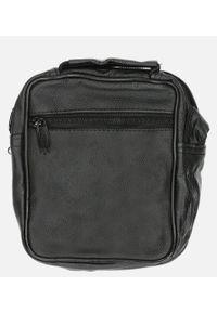 Casu - Czarna torba męska na ramię casu 0988-2. Kolor: czarny