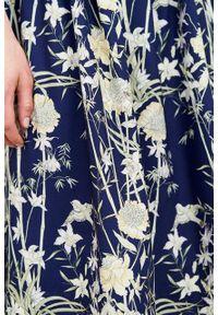 Marie Zélie - Sukienka Melania Kobe. Materiał: bawełna, wiskoza, tkanina, materiał. Długość rękawa: krótki rękaw