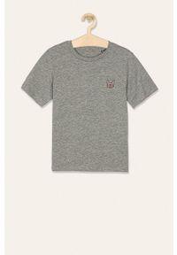 Szary t-shirt Jack & Jones na co dzień, casualowy