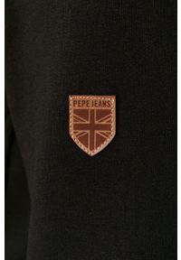 Czarna bluza rozpinana Pepe Jeans na co dzień, casualowa, z kapturem