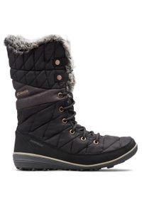 Czarne buty zimowe columbia