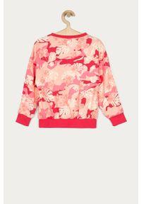 Różowa bluza adidas Originals casualowa, na co dzień
