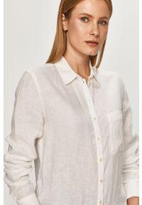 Biała koszula Marc O'Polo na co dzień, casualowa, długa, z długim rękawem