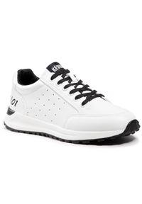 Keddo - Sneakersy KEDDO - 817389/01-01E White/Black. Okazja: na co dzień, na spacer. Kolor: biały. Materiał: skóra ekologiczna, materiał. Szerokość cholewki: normalna. Sezon: lato. Styl: casual