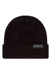 Czarna czapka zimowa TOMMY HILFIGER