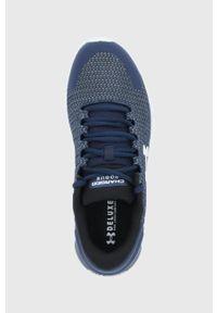Under Armour - Buty Charged Rogue. Nosek buta: okrągły. Zapięcie: sznurówki. Kolor: niebieski. Sport: bieganie