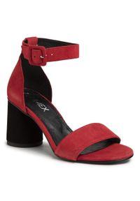 Czerwone sandały Ann Mex na co dzień, casualowe