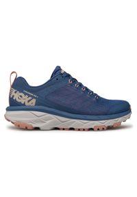 Niebieskie buty do biegania Hoka One One na co dzień, z cholewką
