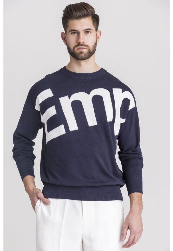Sweter Emporio Armani z okrągłym kołnierzem