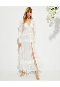 ROCOCO SAND - Sukienka maxi Ame z koronką. Kolor: biały. Materiał: koronka. Wzór: koronka. Styl: boho. Długość: maxi