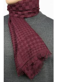 Czerwony szalik Teer w kratkę, na spacer, na jesień