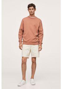 Mango Man - Bluza bawełniana NOLE. Kolor: różowy. Materiał: bawełna