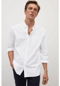 Biała koszula Mango Man casualowa, na co dzień