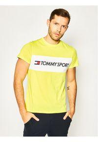 Żółty t-shirt Tommy Sport sportowy