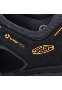 Czarne buty sportowe keen z cholewką, na lato