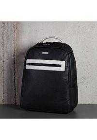 """Wittchen - Męski plecak na laptopa 11""""/12"""" skórzany. Kolor: szary. Materiał: skóra. Styl: klasyczny, elegancki, biznesowy"""