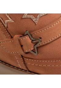 Brązowe buty zimowe Lasocki Kids z aplikacjami, z cholewką