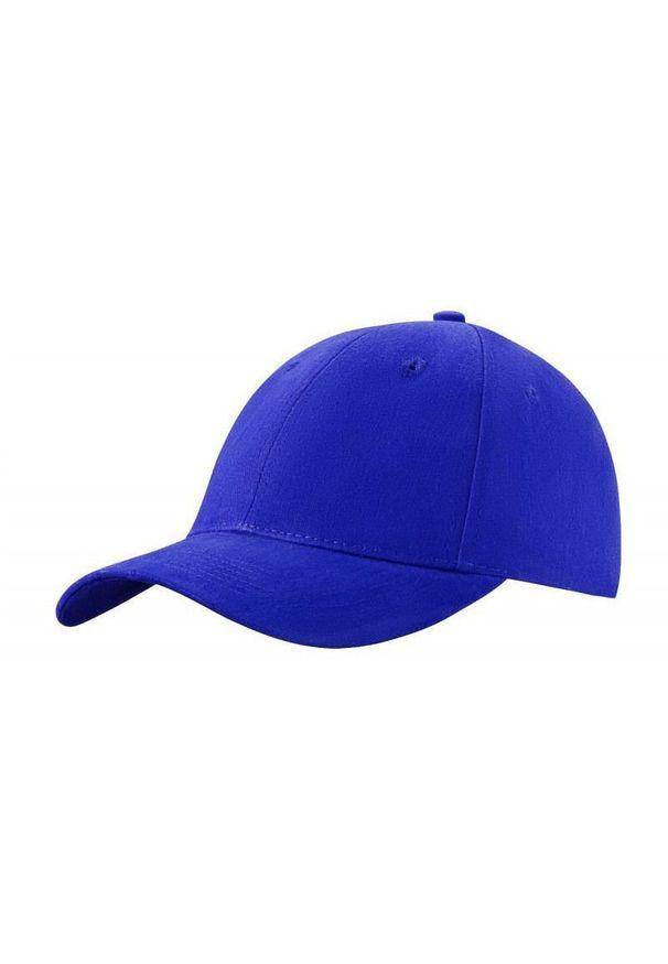 Niebieska czapka Janpol z haftami, na lato