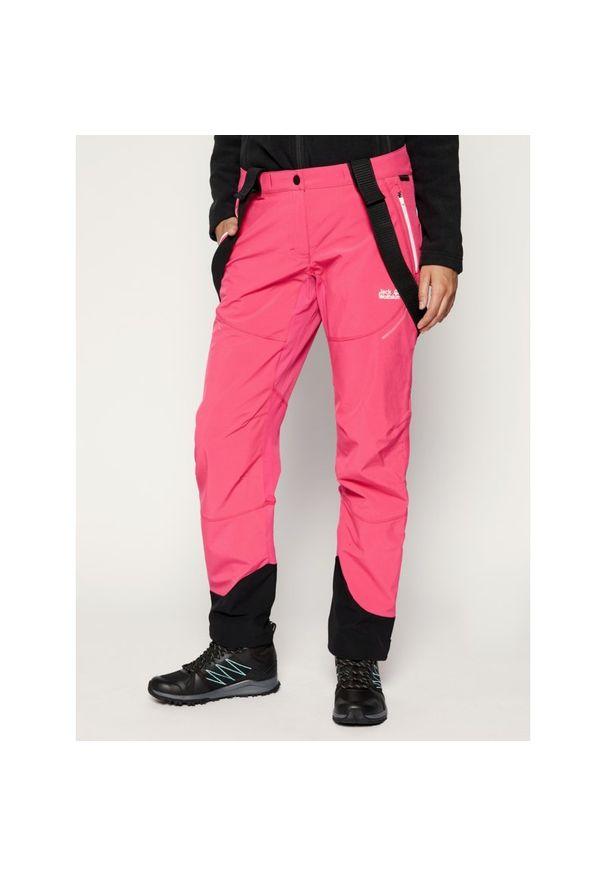 Różowe spodnie narciarskie Jack Wolfskin