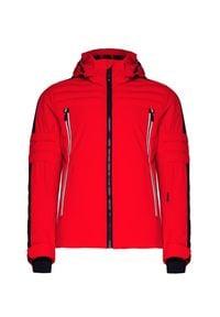 Czerwona kurtka narciarska Toni Sailer długa