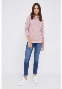 Pepe Jeans - Bluza Poppy. Okazja: na co dzień. Kolor: różowy. Długość rękawa: długi rękaw. Długość: długie. Styl: casual