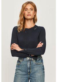 Niebieski sweter Guess Jeans casualowy, na co dzień