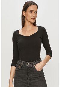 Czarna bluzka z długim rękawem Haily's na co dzień, casualowa, gładkie