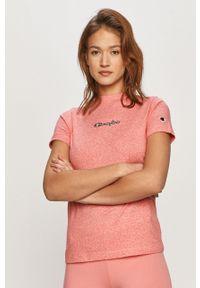 Różowa bluzka Champion casualowa, z aplikacjami, na co dzień