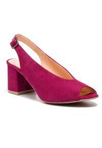 Fioletowe sandały Edeo casualowe, na co dzień