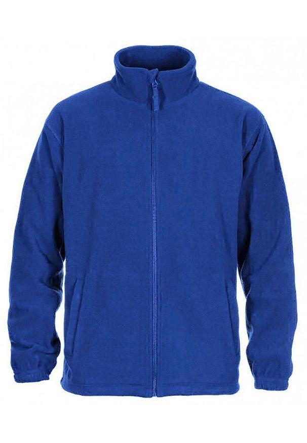 Niebieska kurtka Janpol ze stójką, na wiosnę